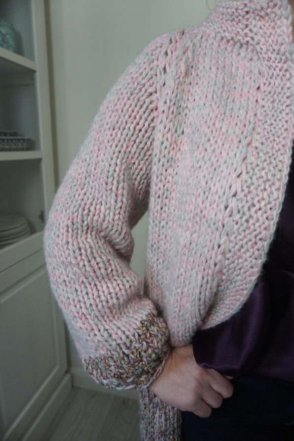 ciepły długi sweter